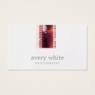 Cool Photographer Vintage Photo Film Simple White Business Card