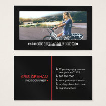 Cool photography camera viewfinder modern black business card