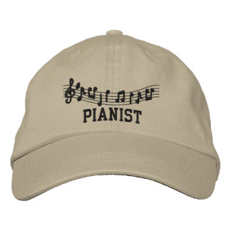 Cool Pianist Cap Embroidered Baseball Cap