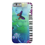 cool piano and nature coulours background barely there iPhone 6 case