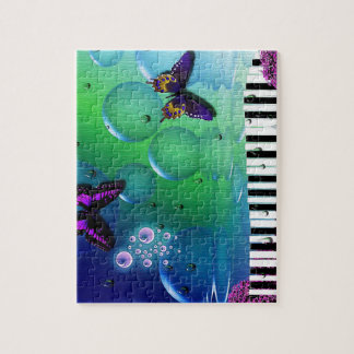 cool piano and nature coulours background puzzle