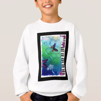 cool piano and nature coulours background sweatshirt