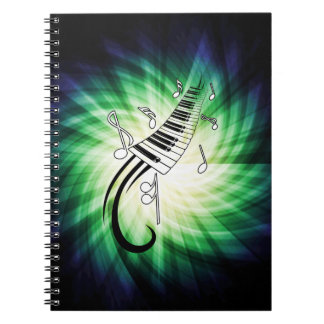 Cool Piano Design Spiral Notebook