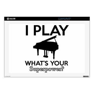 "cool piano designs 17"" laptop skins"