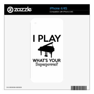 cool piano designs decals for iPhone 4S