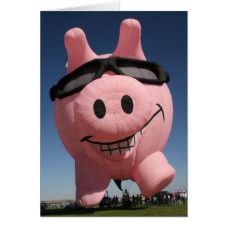 Cool Pig Greeting Card