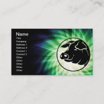 Cool Pig Head Business Card