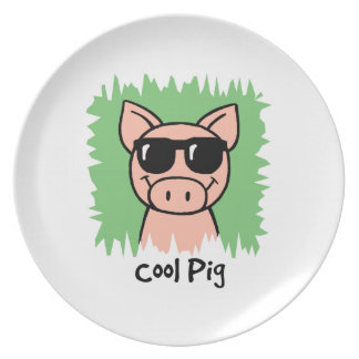 Cool Pig Party Plate