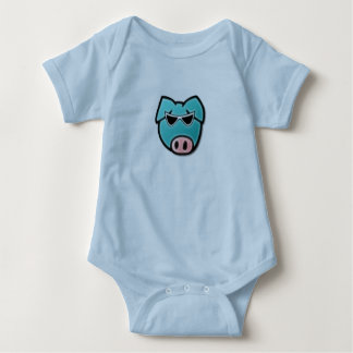 cool piggy baby bodysuit