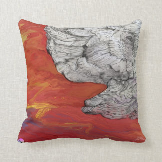 """Cool pillow of """"Unfinished"""" by Yuri Fidelis Almohada"""