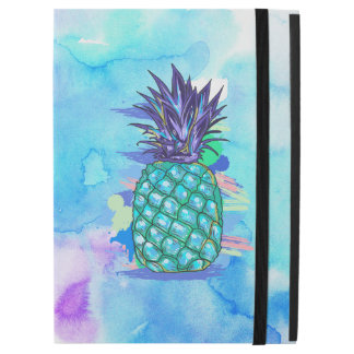 Cool Pineapple Colorful Watercolors Illustration iPad Pro Case