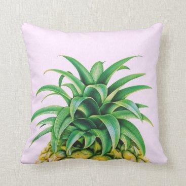 Beach Themed Cool Pineapple Throw Pillow