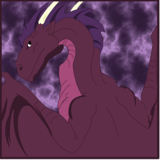 Cool Pink And Purple Dragon Cutout