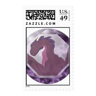Cool Pink And Purple Dragon Gem Postage Stamps