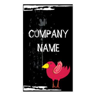 Cool Pink Bird Business Card