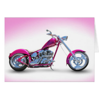 Cool Pink Chopper Postcard Cards