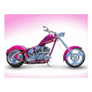 Cool Pink Chopper Postcard