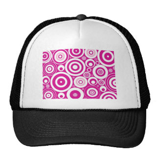 Cool Pink Circles Trucker Hat