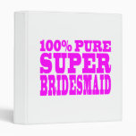 Cool Pink Gifts 4 Bridesmaids : Super Bridesmaid 3 Ring Binder