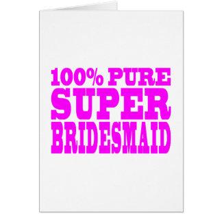 Cool Pink Gifts 4 Bridesmaids : Super Bridesmaid Card