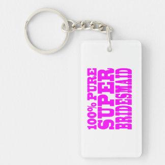 Cool Pink Gifts 4 Bridesmaids : Super Bridesmaid Keychain