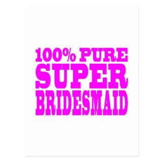Cool Pink Gifts 4 Bridesmaids : Super Bridesmaid Postcard