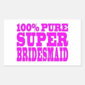 Cool Pink Gifts 4 Bridesmaids : Super Bridesmaid Rectangular Sticker