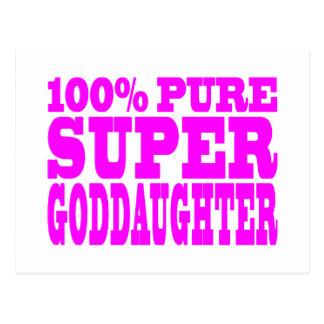 Cool Pink Gifts 4 Goddaughters Super Goddaughter Postcards