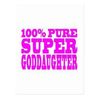 Cool Pink Gifts 4 Goddaughters Super Goddaughter Postcard