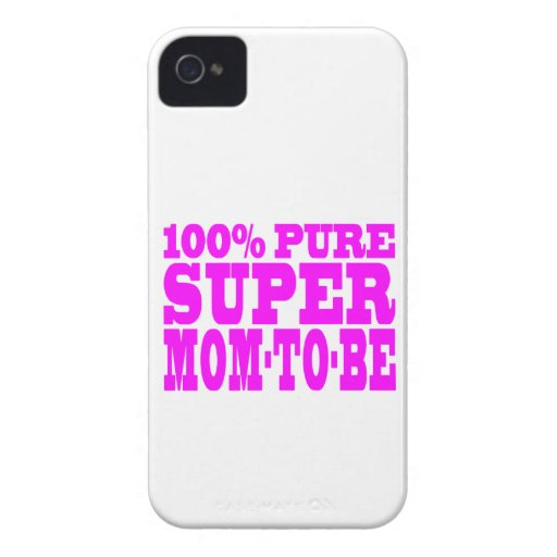 Cool Pink Gifts 4 Moms to Be : Super Mom to Be Case-Mate iPhone 4 Case