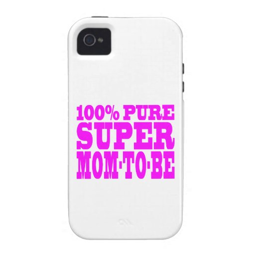 Cool Pink Gifts 4 Moms to Be : Super Mom to Be Case-Mate iPhone 4 Covers
