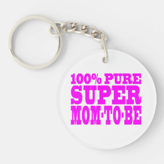 Cool Pink Gifts 4 Moms to Be : Super Mom to Be Keychain