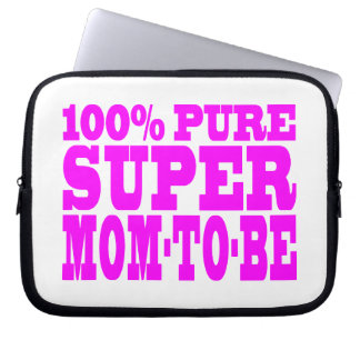 Cool Pink Gifts 4 Moms to Be : Super Mom to Be Laptop Sleeves