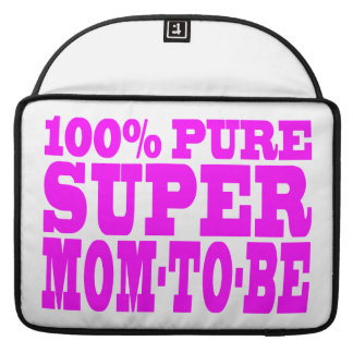 Cool Pink Gifts 4 Moms to Be : Super Mom to Be MacBook Pro Sleeve