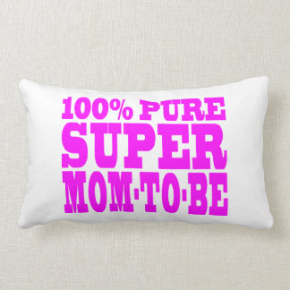 Cool Pink Gifts 4 Moms to Be : Super Mom to Be Throw Pillows