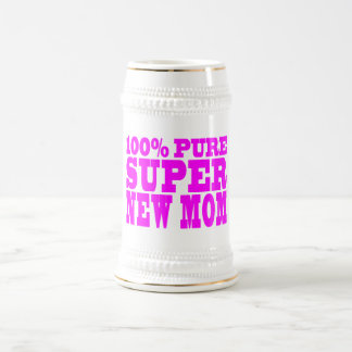 Cool Pink Gifts 4 New Moms : Super New Mom Beer Stein