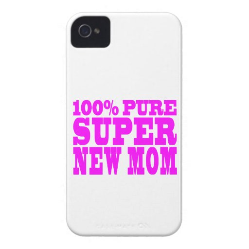 Cool Pink Gifts 4 New Moms : Super New Mom iPhone 4 Case-Mate Case