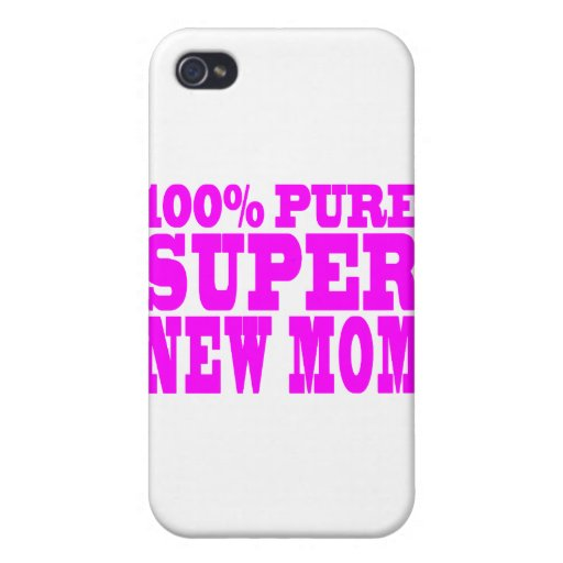 Cool Pink Gifts 4 New Moms : Super New Mom iPhone 4 Cases