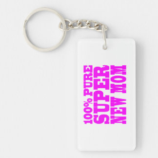 Cool Pink Gifts 4 New Moms : Super New Mom Keychain