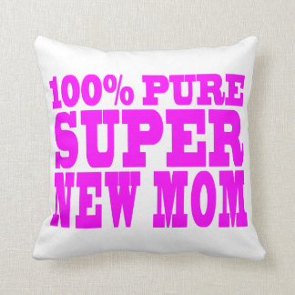 Cool Pink Gifts 4 New Moms : Super New Mom Pillow
