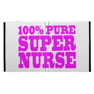 Cool Pink Gifts 4 Nurses 100% Pure Super Nurse iPad Folio Cases