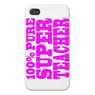 Cool Pink Gifts 4 Teachers 100 Pure Super Teacher iPhone 4 Cases