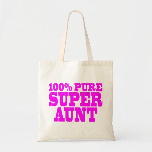 Cool Pink Gifts for Aunts : 100% Pure Super Aunt Budget Tote Bag