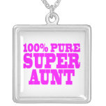 Cool Pink Gifts for Aunts : 100% Pure Super Aunt Personalized Necklace