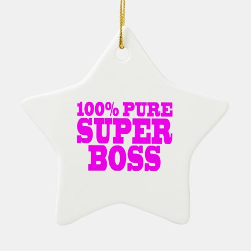 Cool Pink Gifts for Bosses : 100% Pure Super Boss Christmas Tree Ornaments