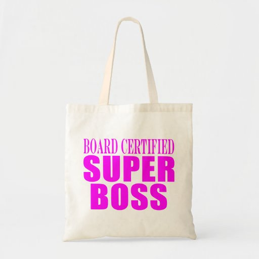 Cool Pink Gifts for Bosses : Super Boss Budget Tote Bag