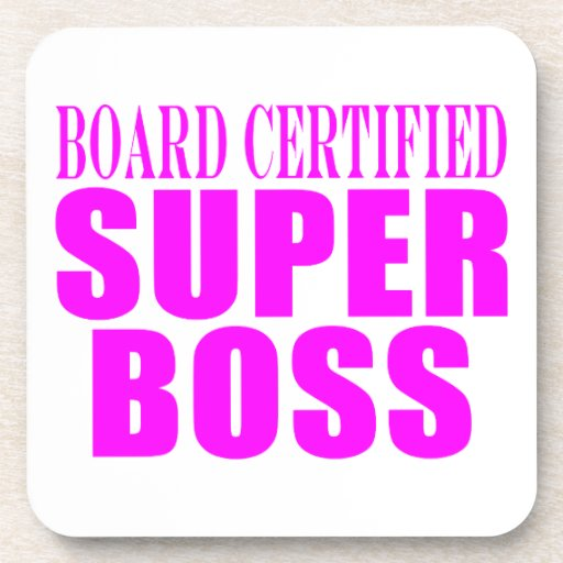 Cool Pink Gifts for Bosses : Super Boss Coaster
