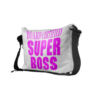 Cool Pink Gifts for Bosses Super Boss Messenger Bags