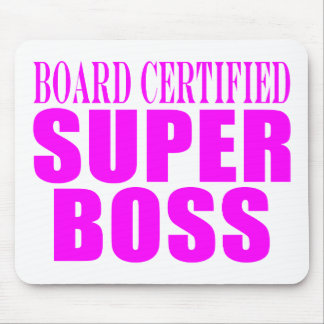 Cool Pink Gifts for Bosses : Super Boss Mouse Pad