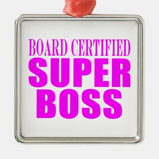 Cool Pink Gifts for Bosses : Super Boss Ornament